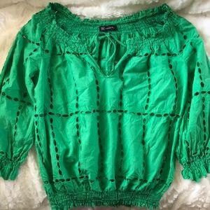 INC Concepts Jade Green blouse